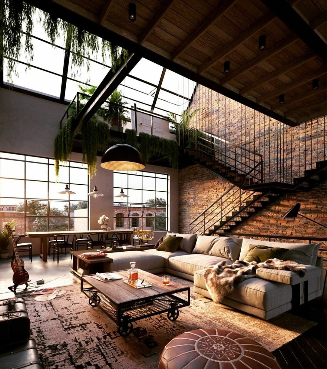 Duplex Inspiration Binyan Studios The Perfect Scandinavian Style Home Industrial Loft Design Loft Interiors Loft Design