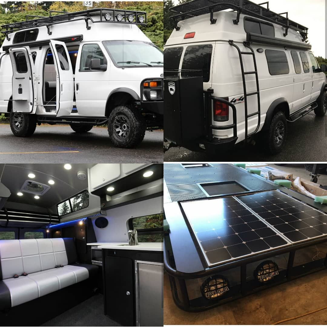 Vanhaus 4x4 Ford Van Conversion Loaded With Aluminess Gear Ford