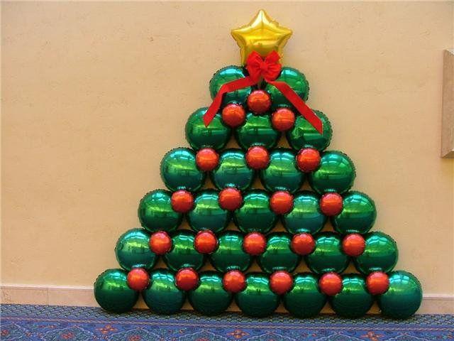 Resultado de imagen para decoracion de navidad con globos - Decoracion de navidad con globos ...