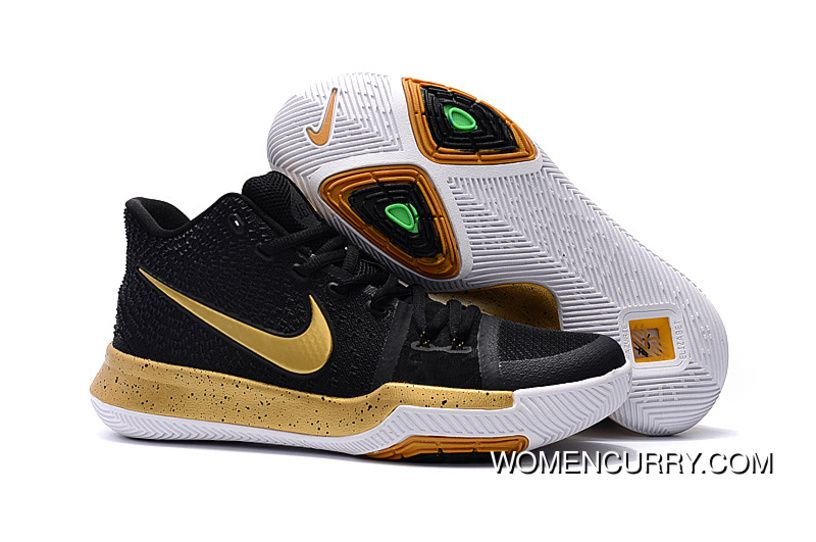 best sneakers a003d cc4ae Girls Nike Kyrie 3 Black Gold White Cheap To Buy, Price   88.79 - Women  Stephen Curry Shoes Online