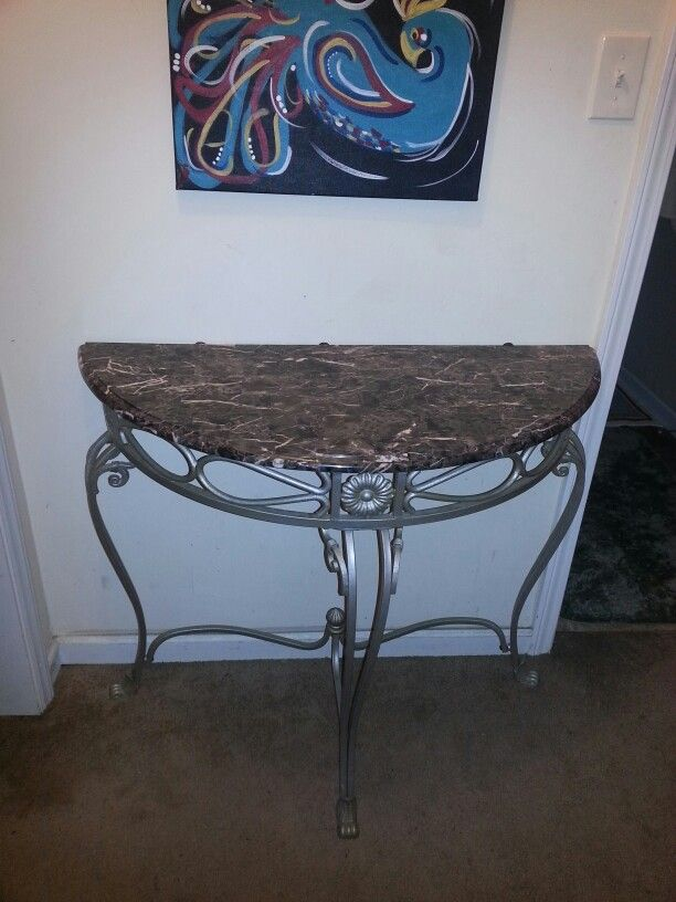 Awesome Wrought Iron Hall Table Or Can Be Used As A Sofa Table. Top May Be