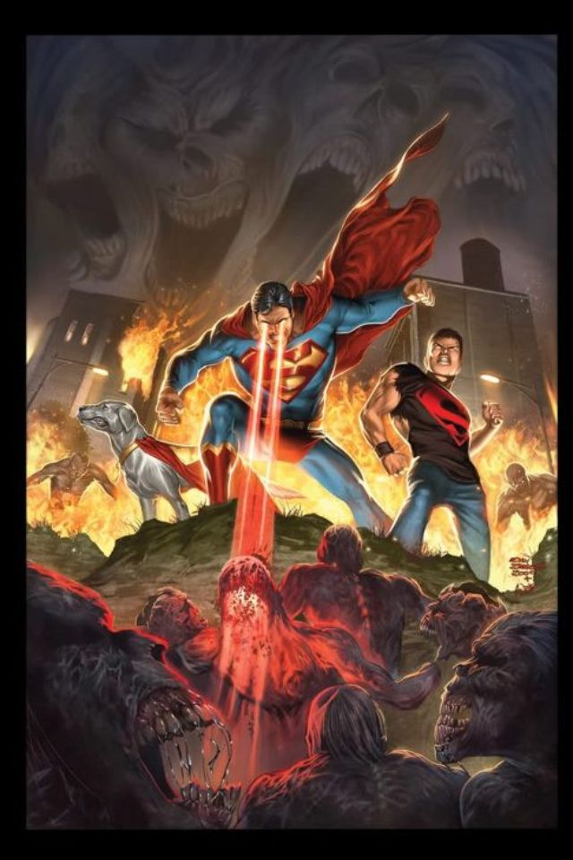 Superman Superboy Conner Kent And Krypto Family Vs Zombies