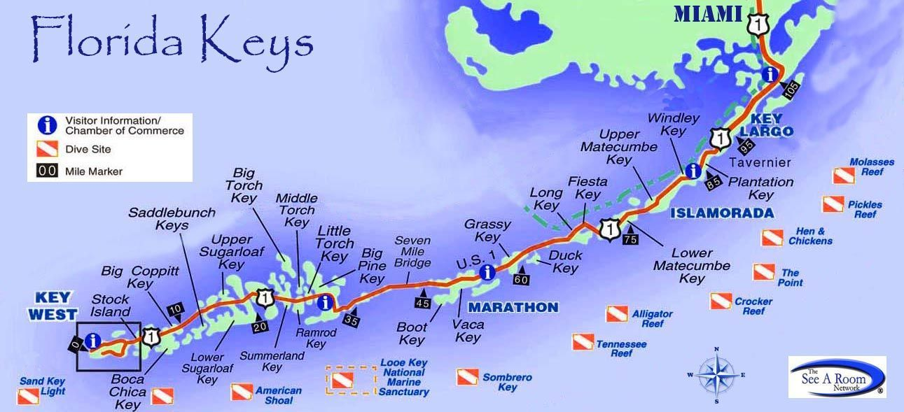 Map Of Florida Keys florida keys islands map   Google Search | Florida keys map