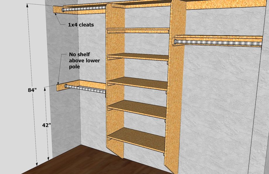 Closet Shelving Amp Pole Dimensions Via Thisiscarpentry