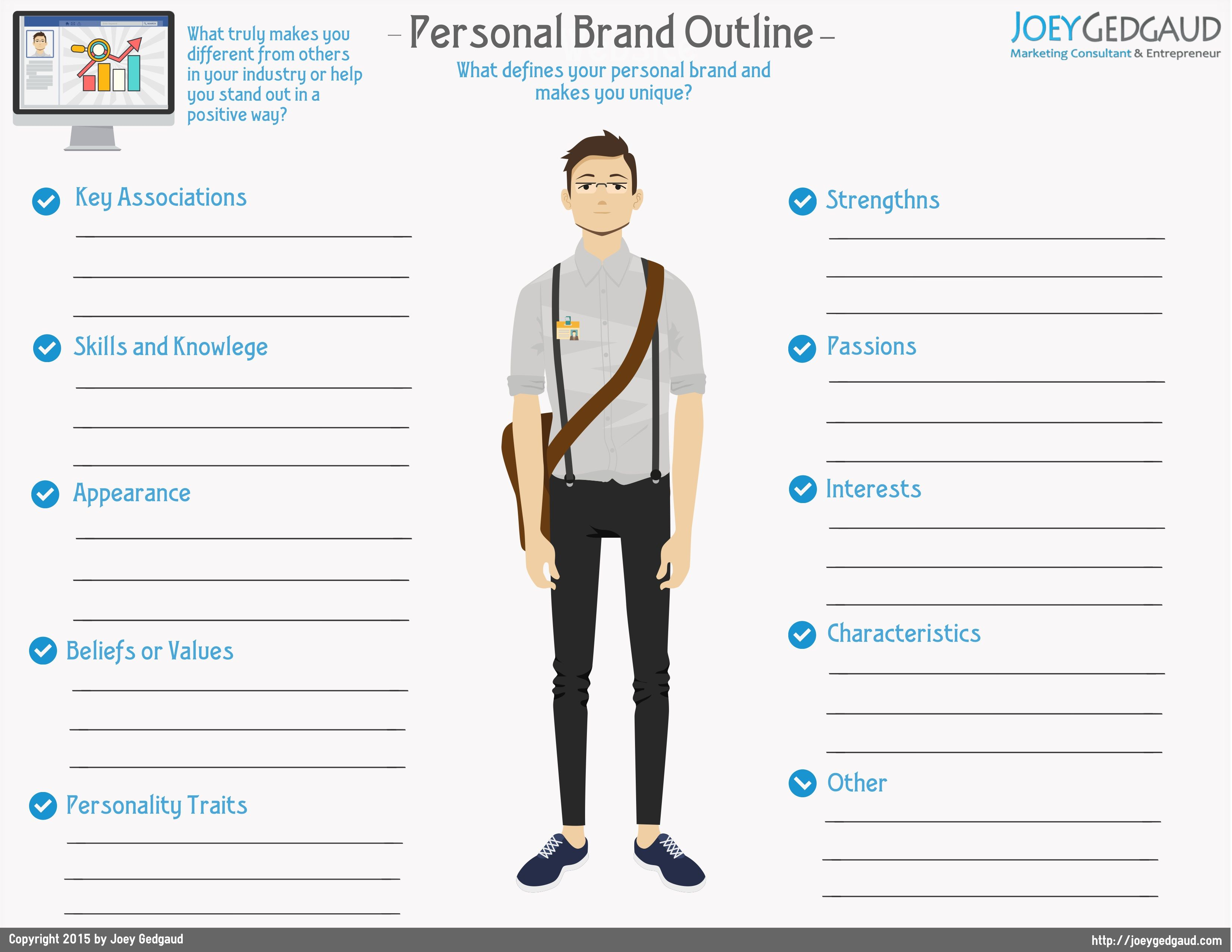 Personal Brand Outline Personal Branding Brand Person