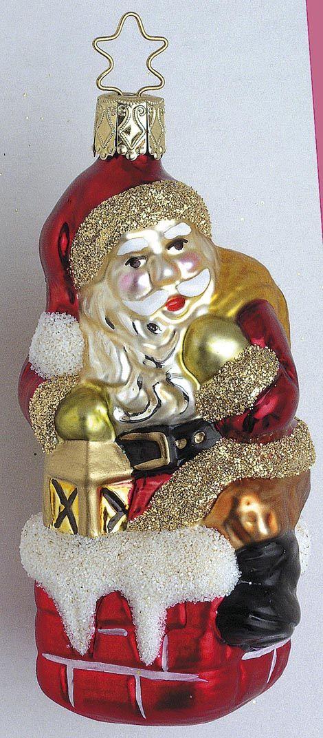 Inge Glas 2003 Christbaumschmuck Weihnachtsmann Aus Dem Hause Inge
