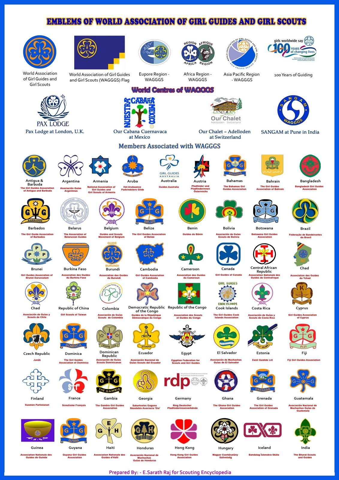 scouting encyclopedia 2010 wagggs members around the