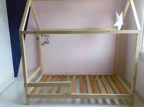 Diy : Un Lit Cabane Pour Une Chambre D'Enfant | Montessori, Kids
