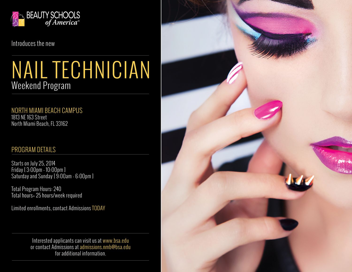 Nail Technician Program Friday to Sunday Weekend