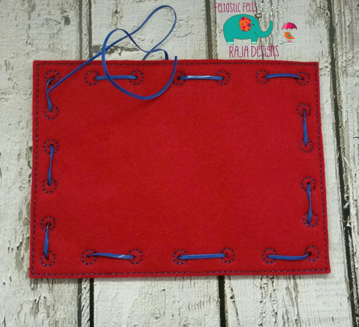 Rectangle Lacing Card Embroidered Learn To Sew Sewing