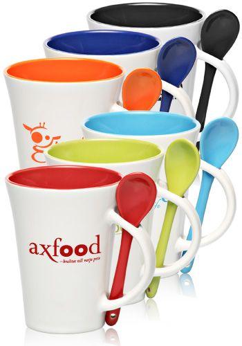 Customized Spooner Mugs â 10 oz. Two-Tone Ceramic Mugs â ...