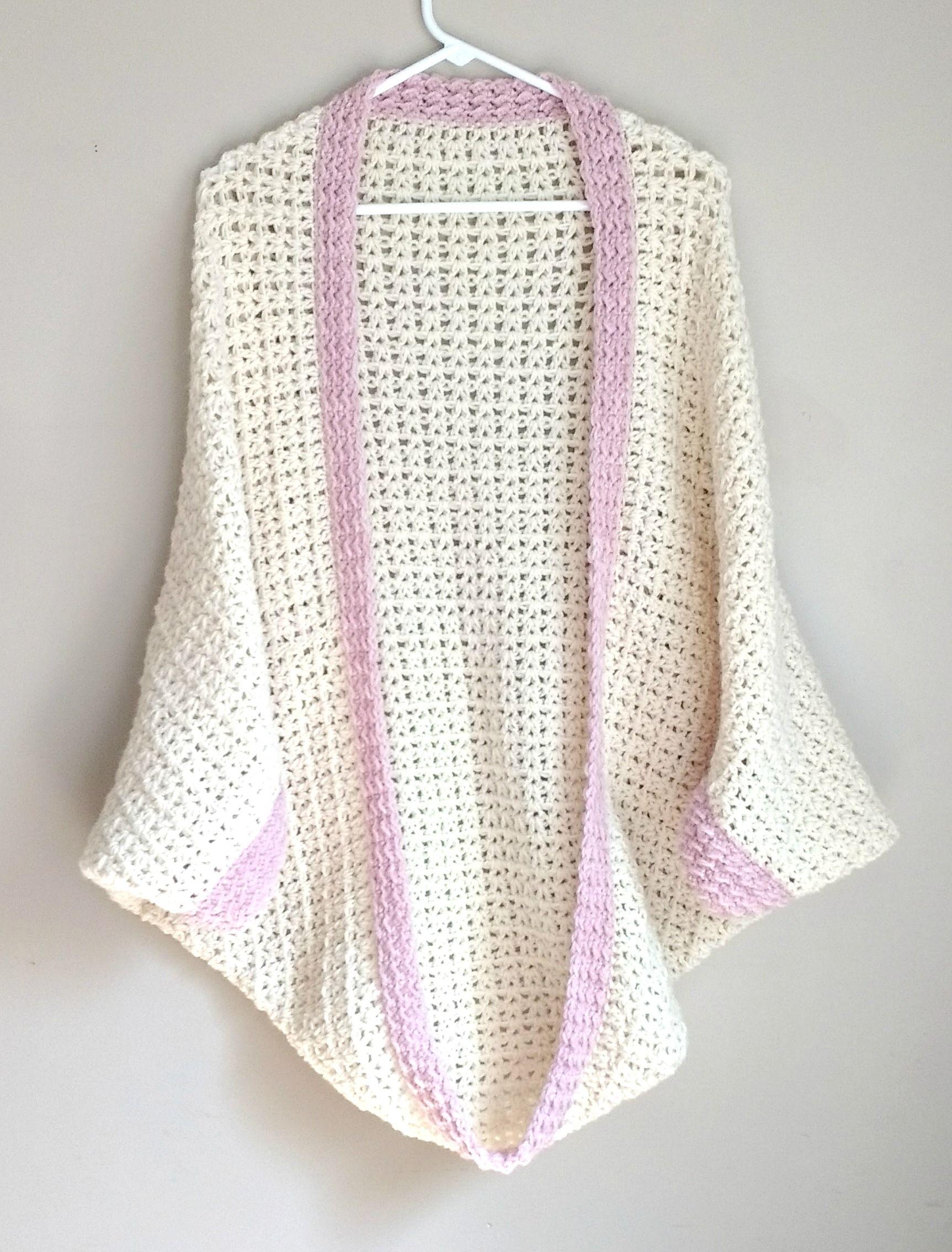 Crochet Cozy Cocoon Cardigan | Crochet capas, Chal y Puntadas