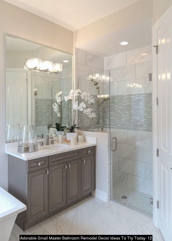30 Adorable Small Master Bathroom Remodel Decor Ideas To Try Today Bathroom Remodel Designs Bathrooms Remodel Small Master Bathroom [ 1433 x 1024 Pixel ]
