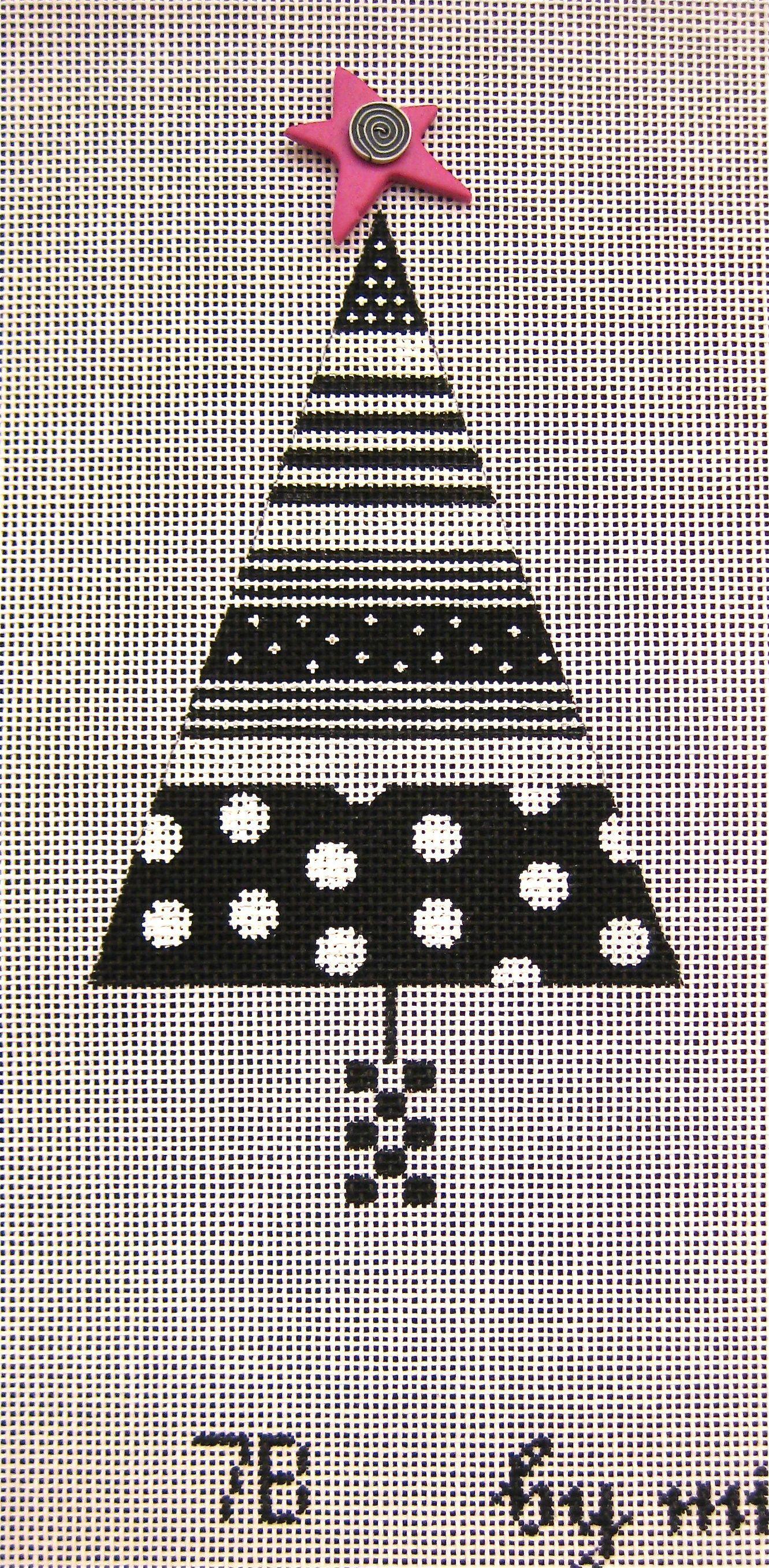 MINDY/'S NEEDLEPOINT ~ Lot of 2 Needlepoint Canvases ~ Mini Stocking /& Mini Season ~Vintage Needlepoint ~Landscape ~Southwestern ~Ornaments ~