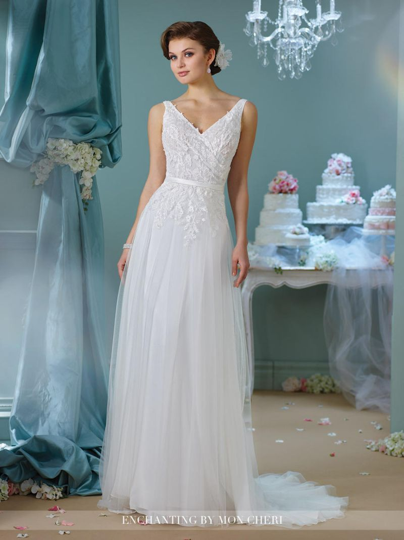 Enchanting by Mon Cheri 216164 Casual Wedding Gown | Casual wedding ...