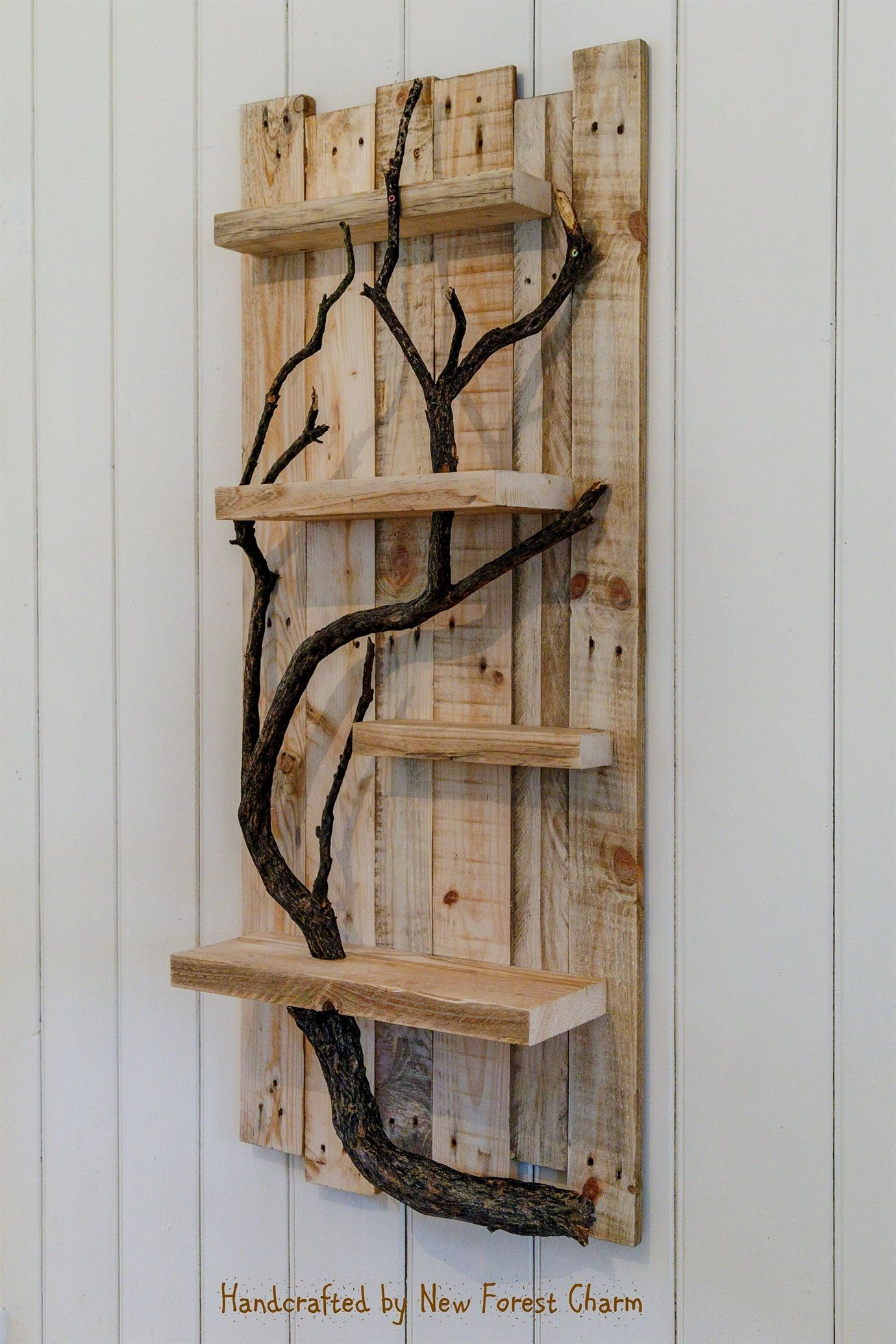 Rustic Home Decor Wall Art Reclaimed Pallet Shelves Wooden ...