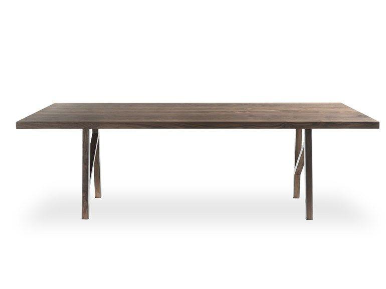 Mesa retangular de madeira maciça | Riva 1920