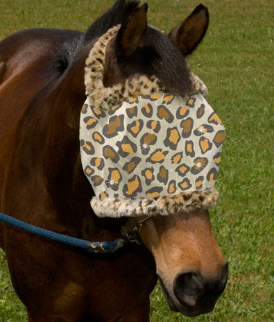 Leopard Fly Mask