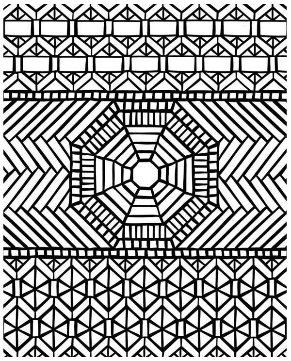 Traditional Pattern Mandala Mosaic Coloring Page   coloring ...