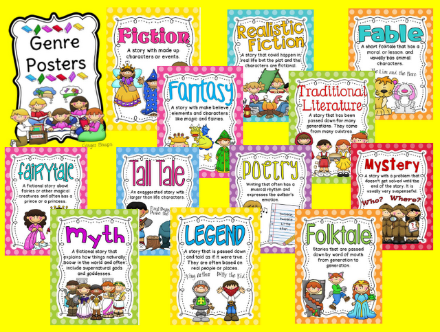 Genre Posters And Bingo Genre Posters Reading Genres Reading Genre Posters