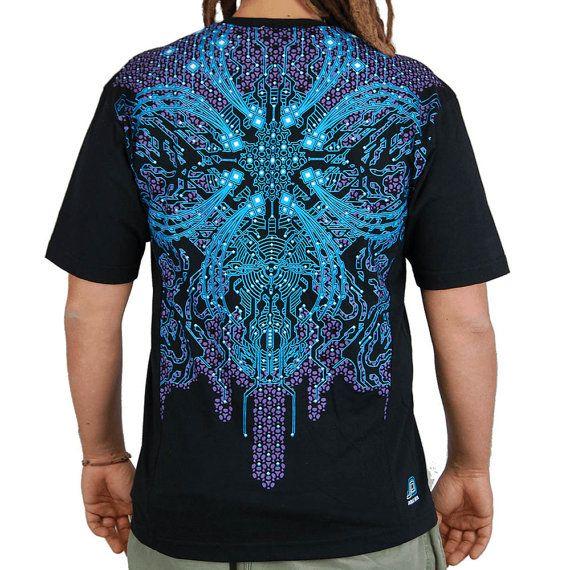 Dark nebula men 39 s psytrance t shirt psychedelic prints for T shirt design materials