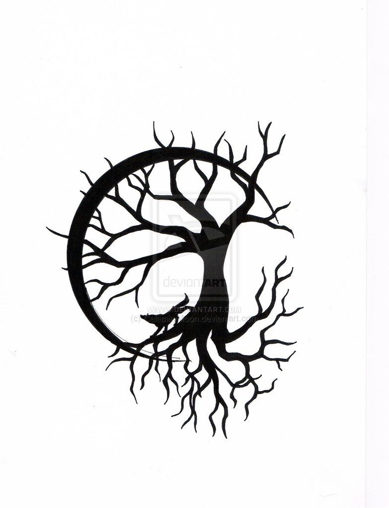 Line Drawing Tree Tattoo : Pin line drawing tree of life on pinterest j