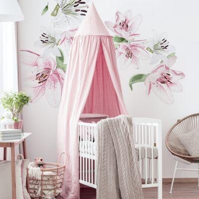 Naklejki Kwiaty Na Sciane Do Pokoju Dziewczynki Minimalistische Wohnzimmer Lilien Dekoration