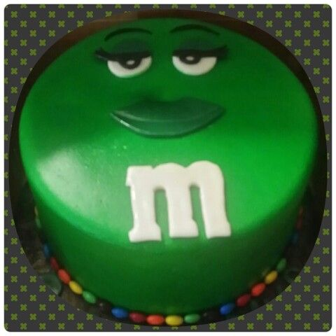 Green MM Cake Sinfully Sweet Confections Pinterest