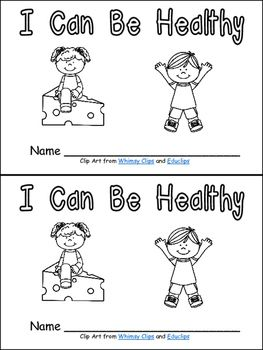 I Can Be Healthy- Emergent Reader- Kindergarten Healthy ...