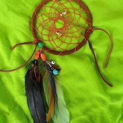 Hemp Dreamcatcher With Sugar Skull & Leopard Beads