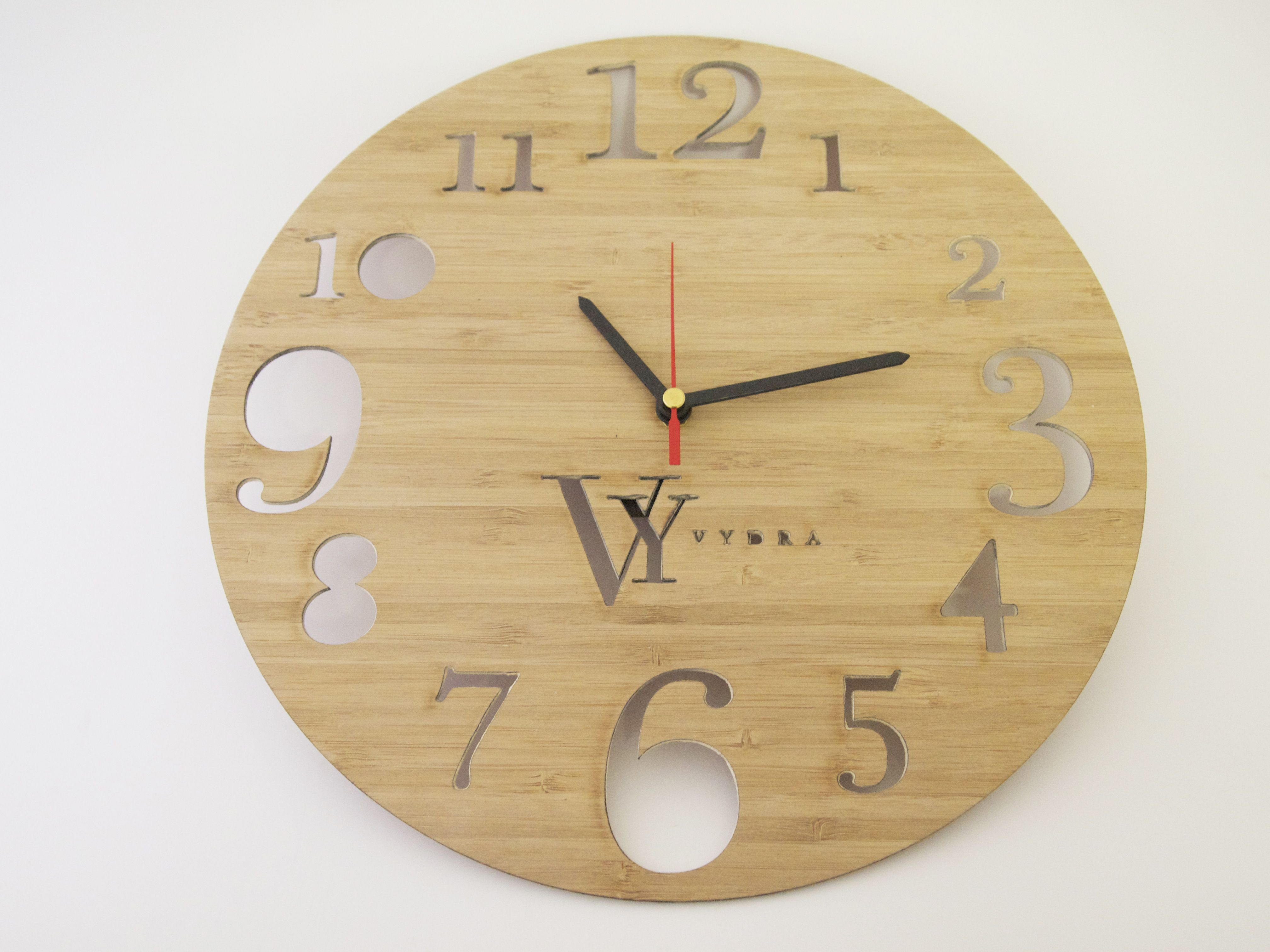 Personalised laser cut clock using bamboo wood custom made pieces personalised laser cut clock using bamboo wood custom made pieces engraved with names and messages amipublicfo Gallery