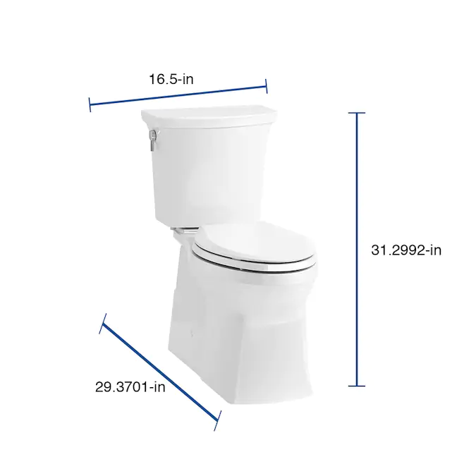 Kohler Transpose White Watersense Elongated Chair Height 2 Piece Toilet 12 In Rough In Size Ada Compliant Lowes Com In 2020 Chair Height Water Sense Toilet