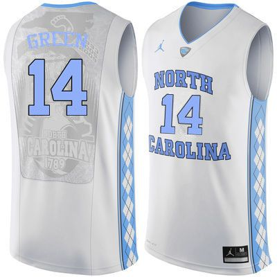 547d075955e Men North Carolina Tar Heels  14 Danny Green College Basketball Jerseys  Sale-White