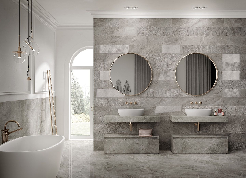 Total Look For The Bathroom Italgraniti Porcelain Stoneware Avec