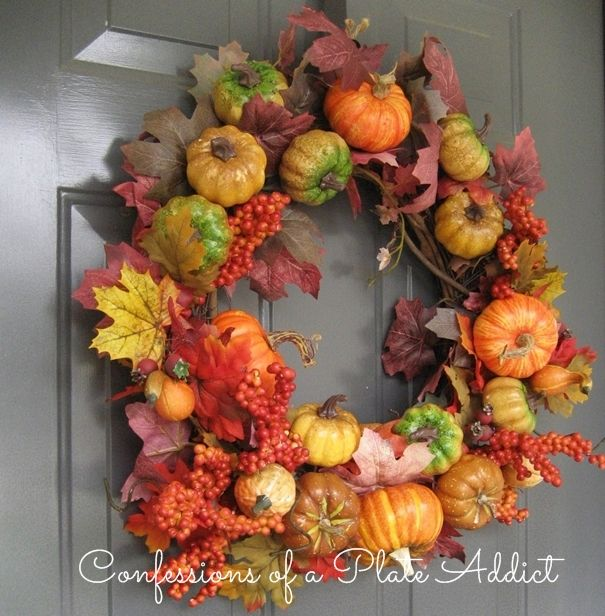 Pottery Barn Inspired Fall Wreath And It Was Free Fall Wreath Fall Wreaths Diy Fall