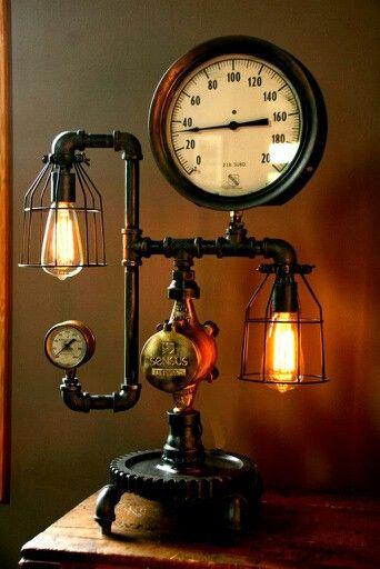 Handmade Steam Punk Lamp