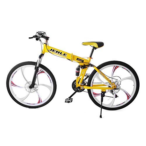 0b6e467ecbe VEVOR Folding Bicycles 26 Inch Full Suspension Folding Mountain Bike 21  Speed Shimano Mg Alloy 6 Wheel Mountain Bike Downhill Bikes 6 wheels **  Want to know ...
