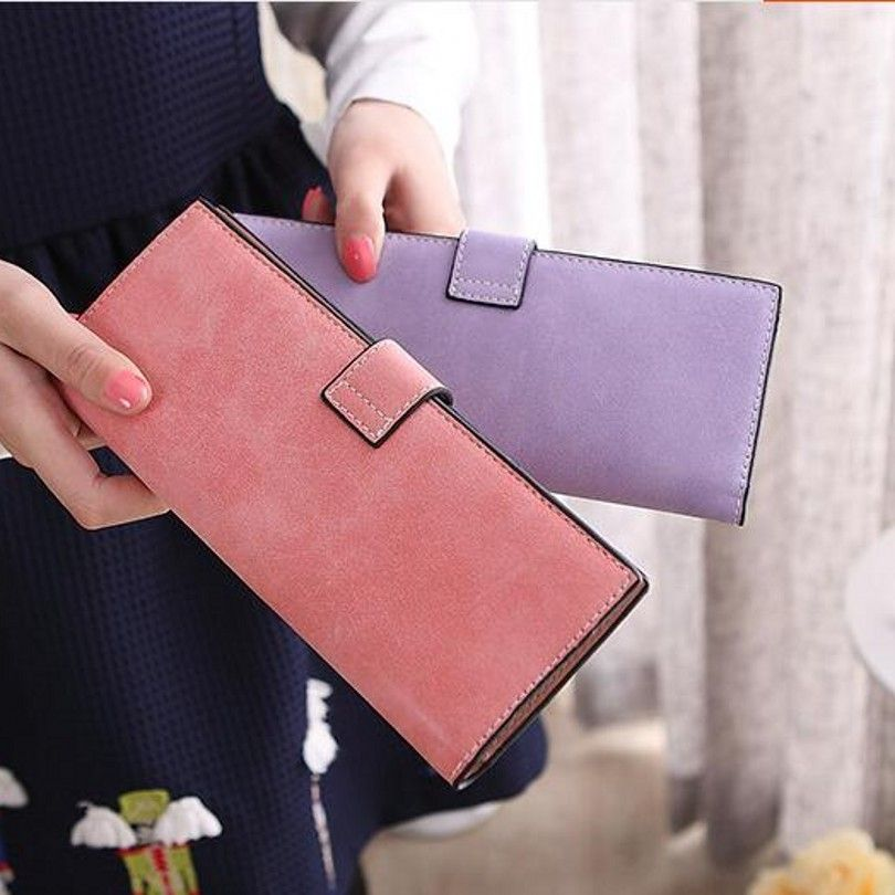 55 cards women female business id credit card holder wallet long ...