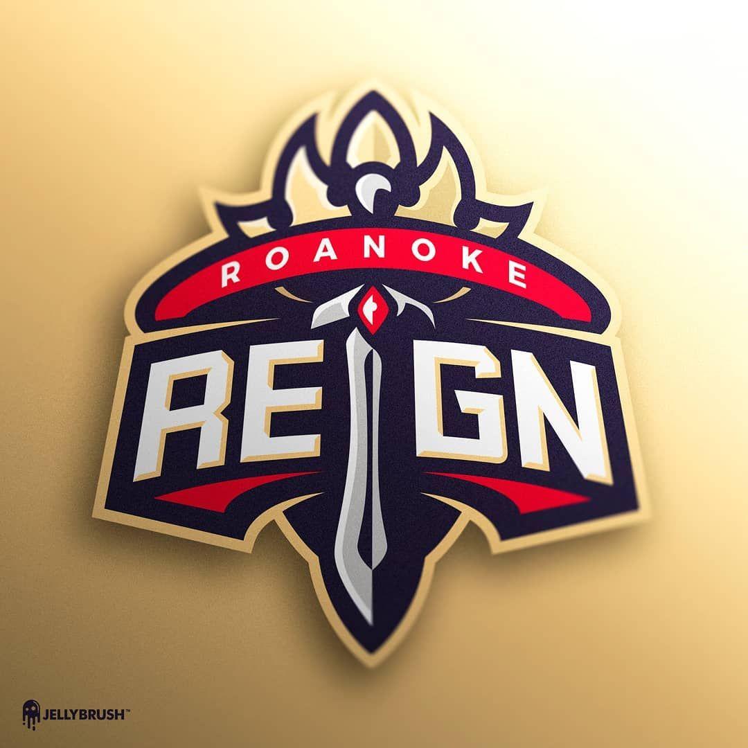 Jellybrush On Instagram Mascot Logo Design For Roanoke Reign Mascotlogo Logo Sportslogo Esports Graphicdesign Graphicstudio Esportsdesign