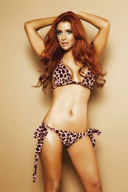 f13a5ed40a Pink Leopard Print Faux Fur Swimsuit - Animal Print Bikini ...
