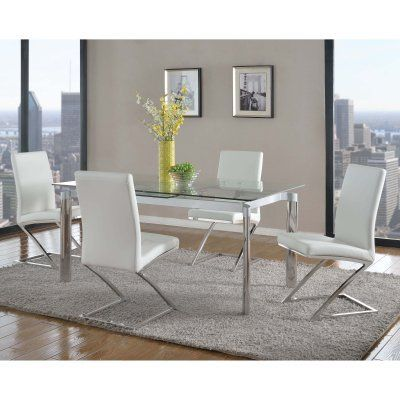 Chintaly Tara 5-Piece Dining Room Set with Jade Chairs - CTY2101