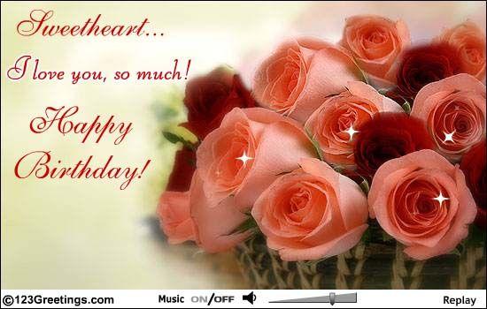 A Birthday Card From Hubby 123 Grettigs Pinterest Happy