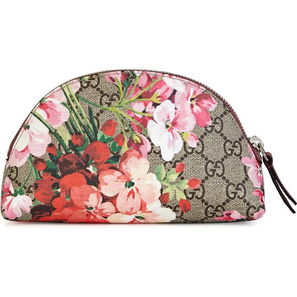 0bb2a9d87bb Gucci GG Bloom small floral cosmetics case ( 240) ❤ liked on Polyvore  featuring beauty