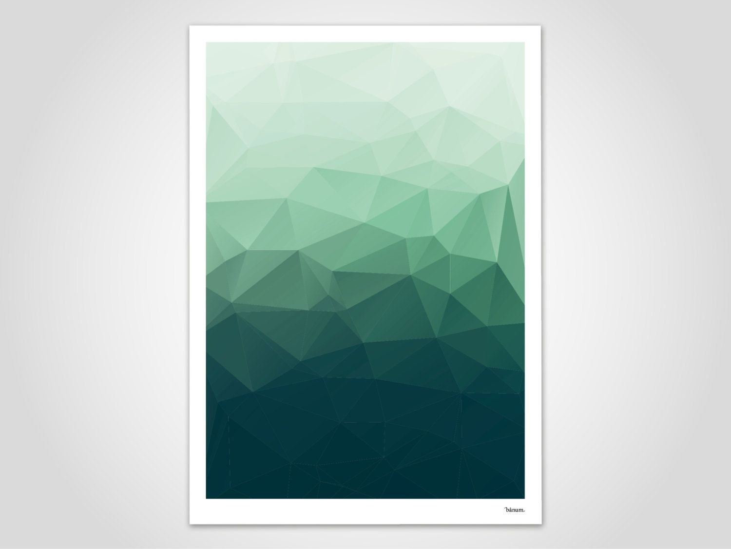 flow no 1 low poly poster abstract prints modern wall