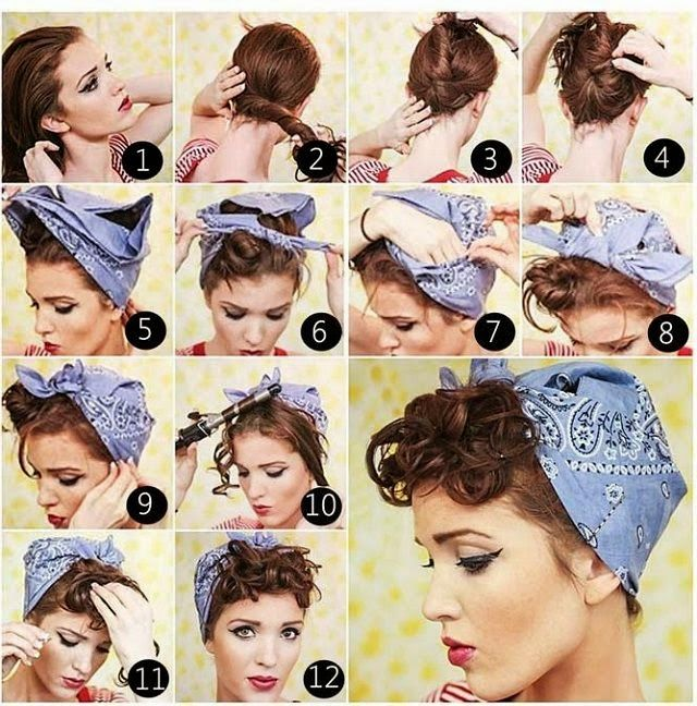 Hairstyles With Bandana Alluring Cherry Bubbles´s  Kids Pinup Theme  Pinterest  Bandanas