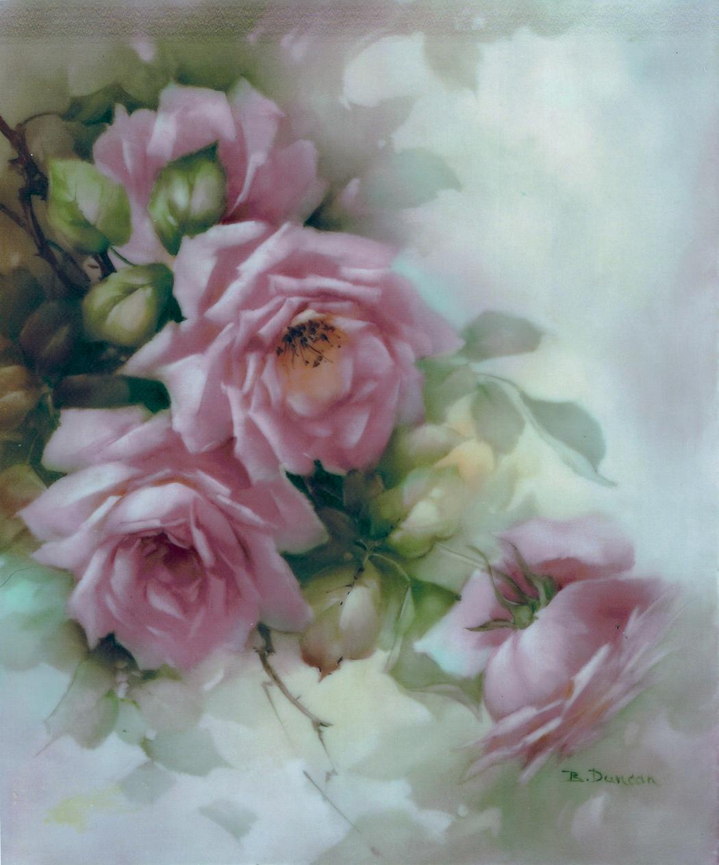 Акварельные розы картинки для декупажа