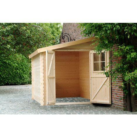 Petit abri de jardin bois adossable Nousu / 467m² - abris de jardin adossable