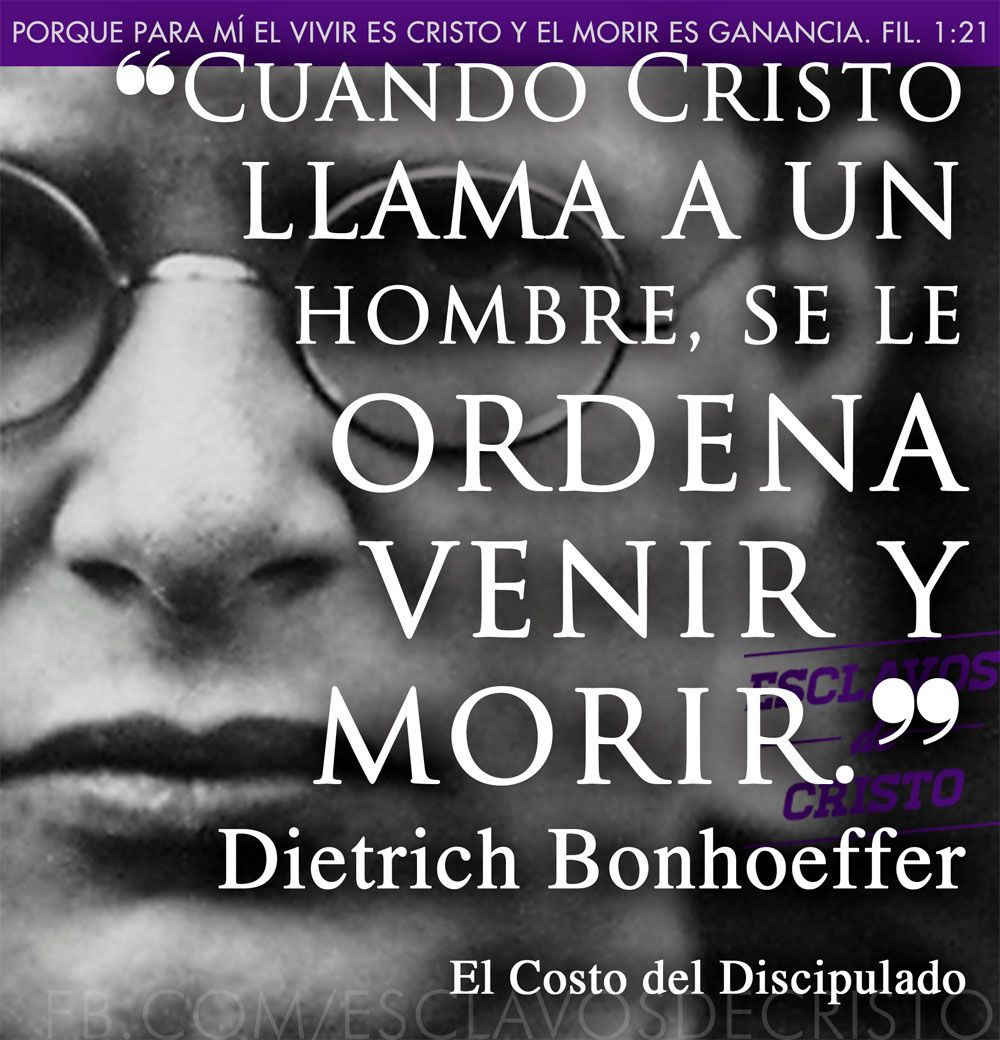 Dietrich Bonhoeffer El Costo Del Discipulado Cristo