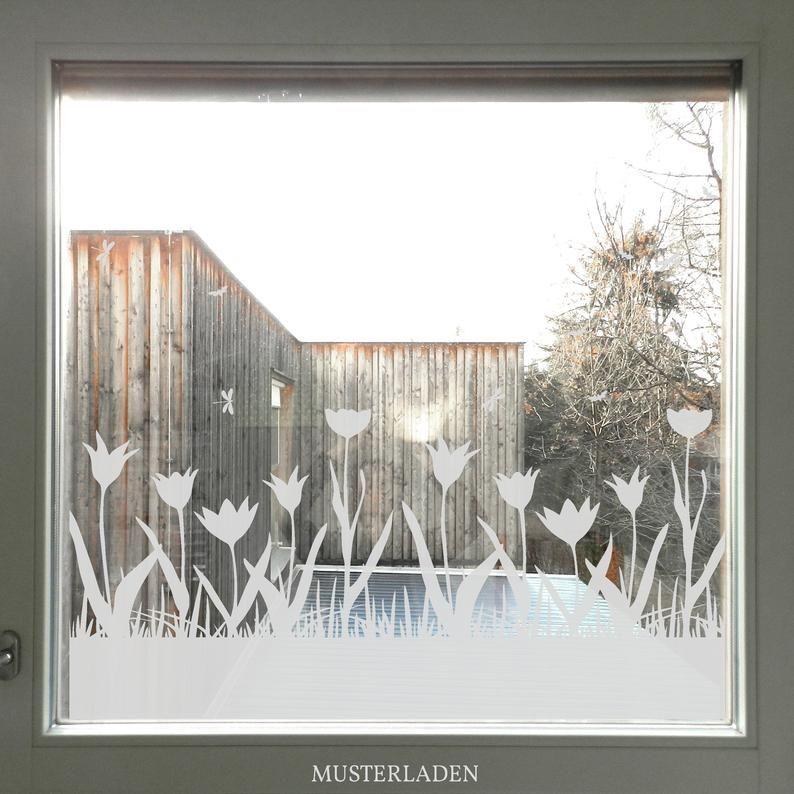 Sichtschutz Folie Tulpe, Blumen Fensterdekoration, Tulpe