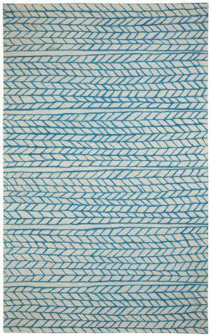 Capel Genevieve Gorder Spear 3305 Beige Blue Area Rug In